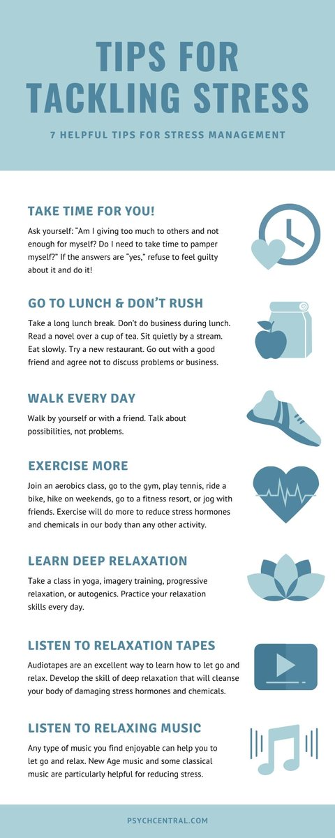 Being tense and finding little or no time to relax is an important stress indicator. The value you place on taking time for yourself determines whether you are a relaxed person in a tense world. Check out these stress relieving tips. psychcentral.com/lib/too-tense-…