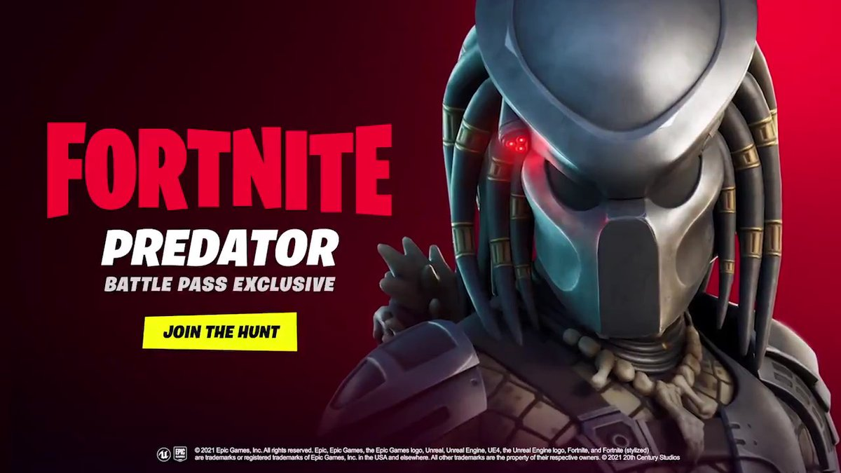 There's something out there waiting for you…  The legendary Hunter has arrived in Fortnite!  Complete the Jungle Hunter Quests in Fortnite - Chapter 2: Season 5 Battle Pass to unlock the Predator Outfit today!