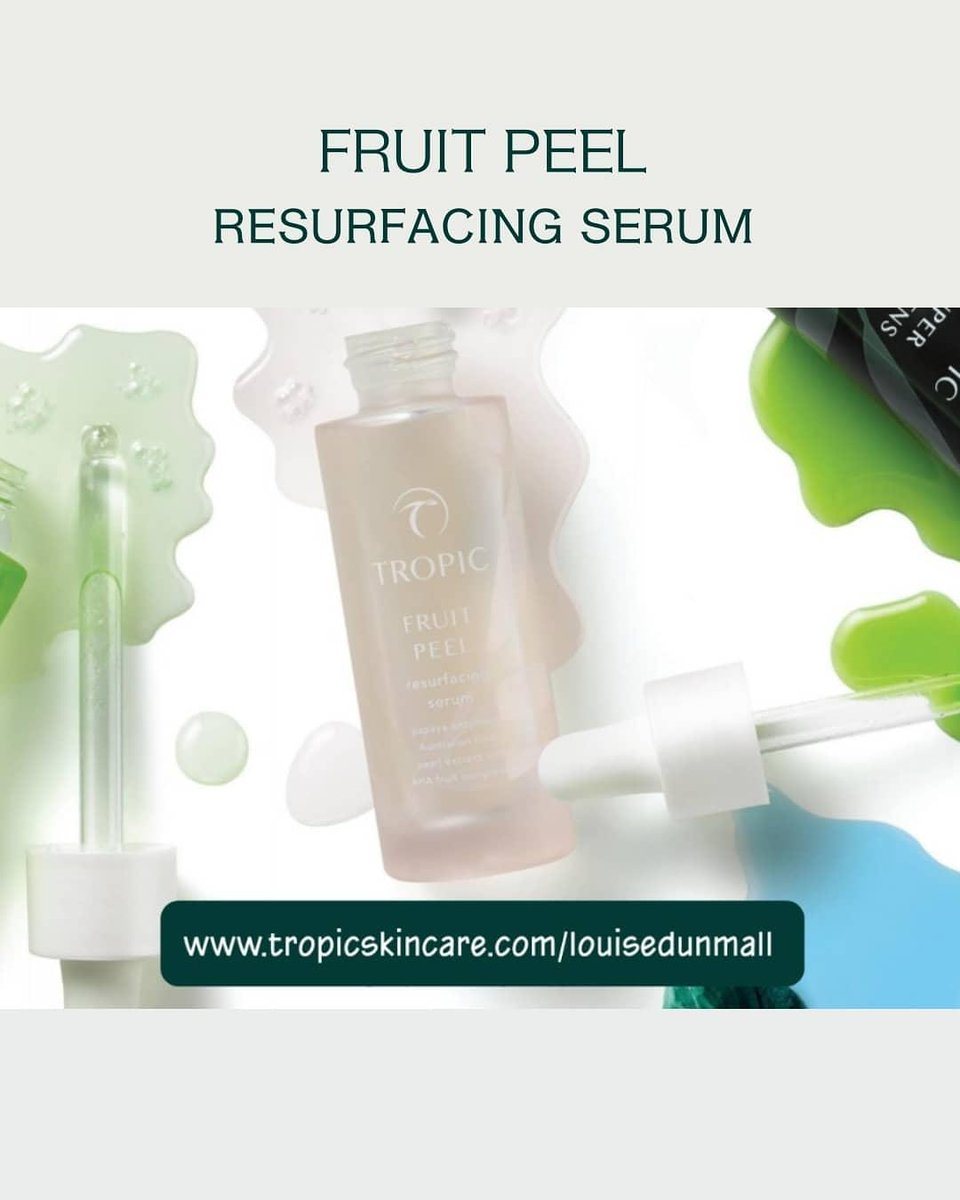 FRUIT PEEL resurfacing serum  Reveal your softer side with this resurfacing serum.  SHOP ONLINE NOW AT...