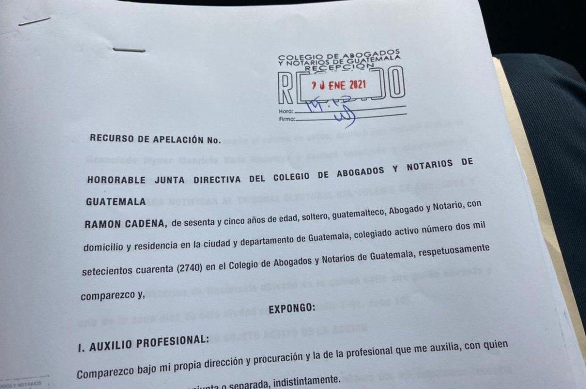 test Twitter Media - El abogado Ramón Cadena también presentó una impugnación contra la elección del Juez Mynor Moto como Magistrado de la CC por el CANG. https://t.co/mFzjPYefIS