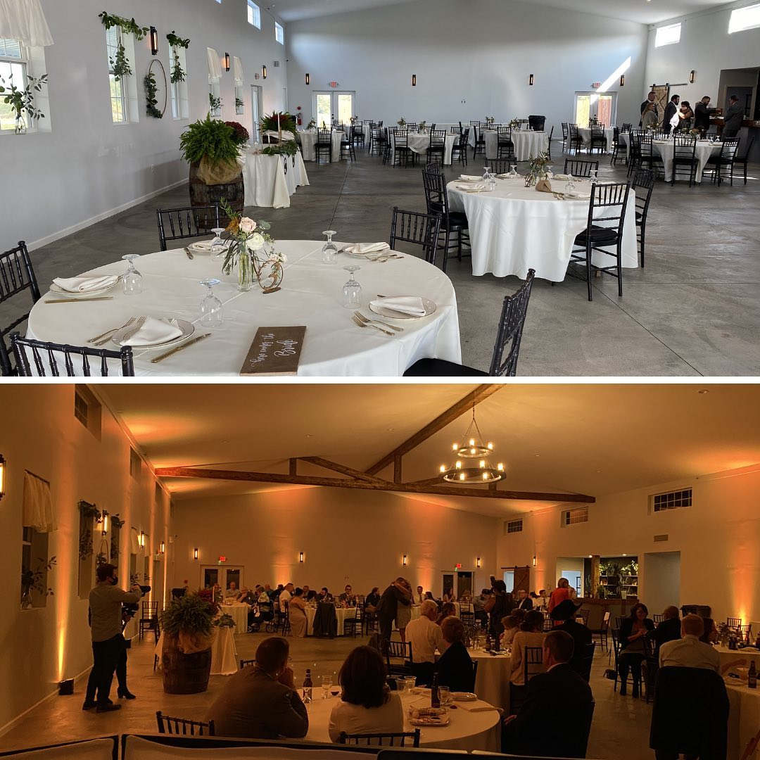 Totally transform your venue by adding on uplighting to your package!! You won't regret it!!   #Entertainment #Wedding #BrideToBe2021 #Uplighting #Cleveland #Pittsburgh #Akron #Canton