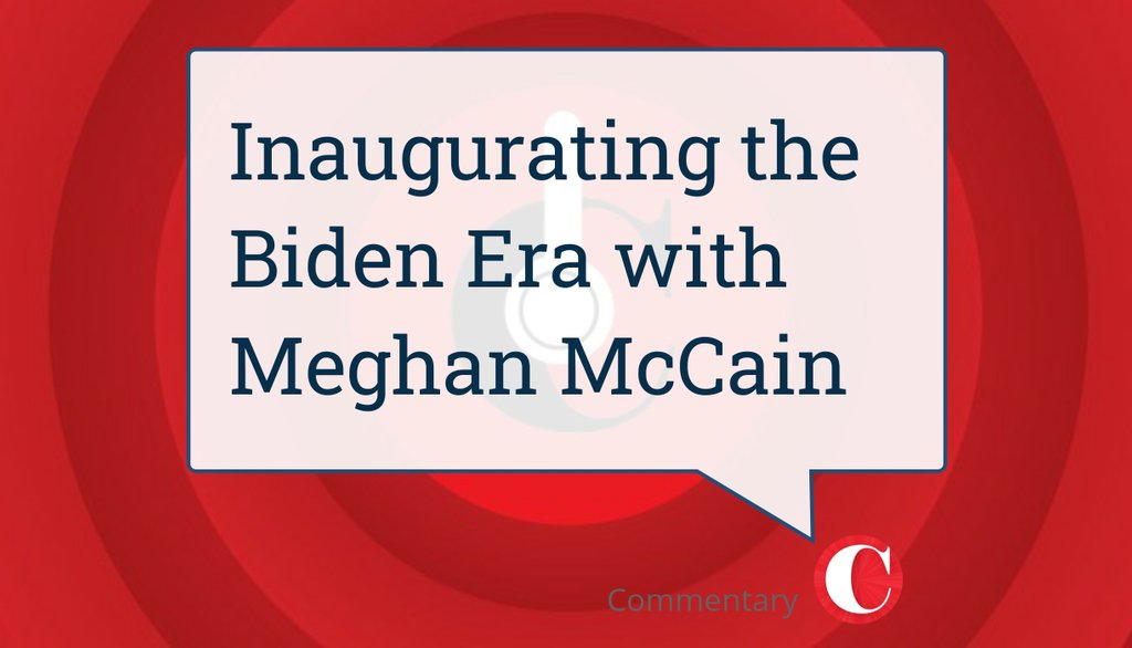 """@MeghanMcCain from ABC's """"The View"""" joins the @Commentary podcast to talk about Joe Biden's inauguration as president, the fallout from the January 6 Capitol Building riots, and what it will be like to host a daytime talk show without Trump.  Tune in ▸"""