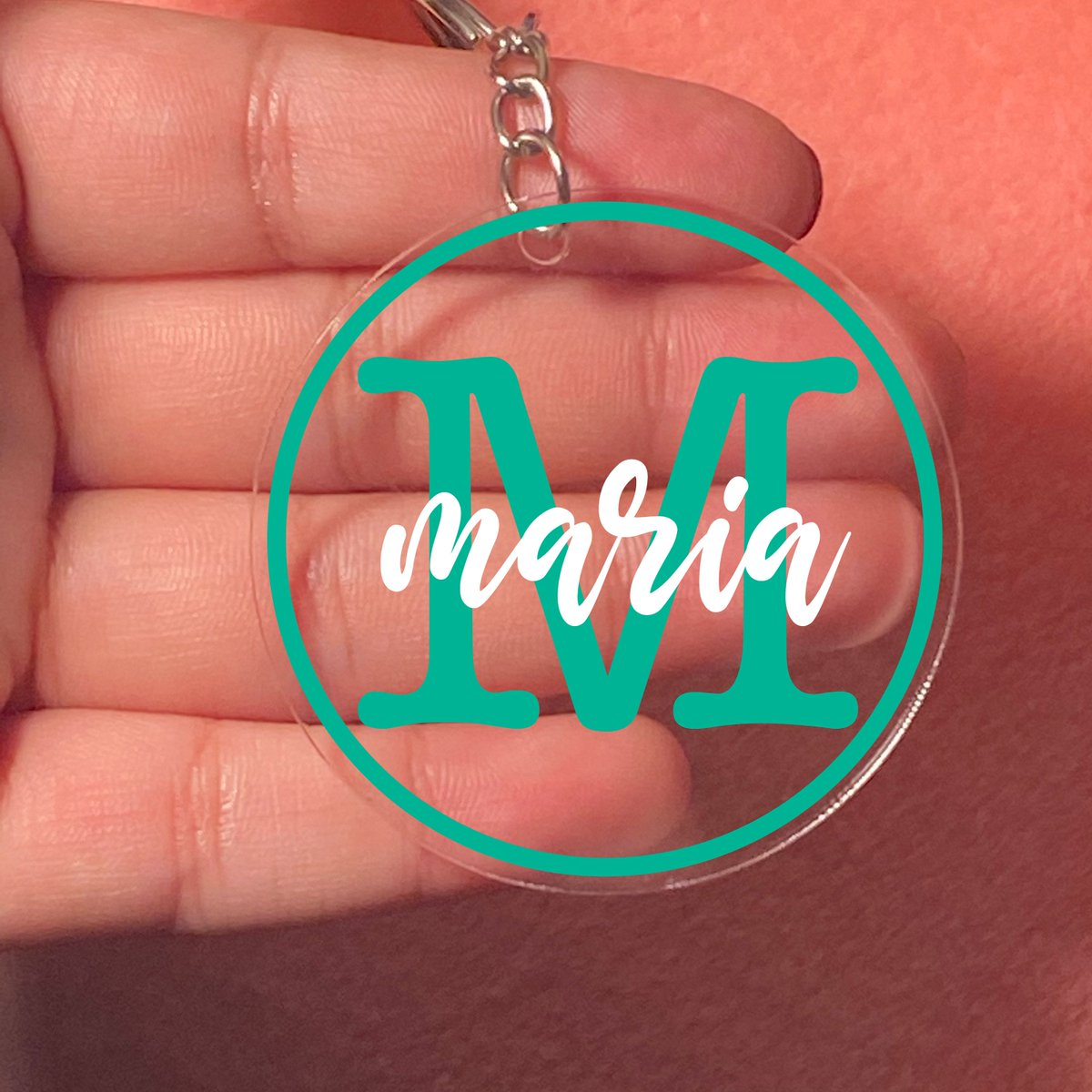 Excited to share the latest addition to my #etsy shop: Monogram Acrylic Keychain with/without Tassel- Custom Name and Initial Keychain for Her - Gift for Her  #birthday #veteransday #acrylickeychain #vinyl #monogram #personalized #custom #customk