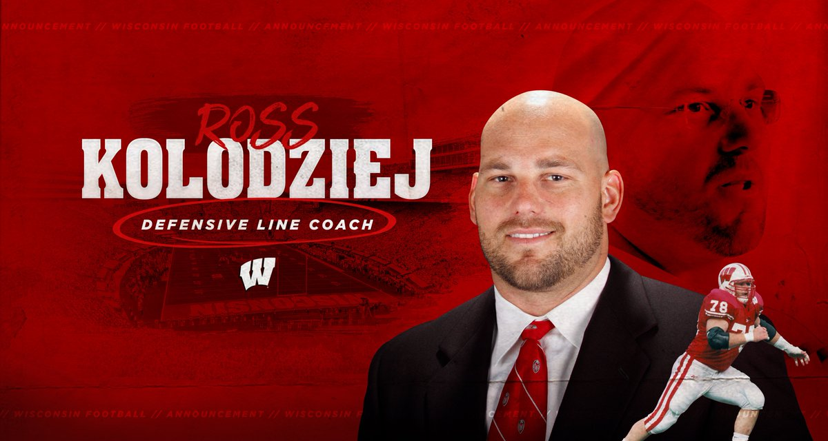 "Badger → Badger in the NFL →  Head Badger Strength Coach  → BADGER DEFENSIVE LINE COACH ←  Let's go Coach K!  ""I'm excited for the chance to continue impacting our program & helping our guys become the best they can be"""
