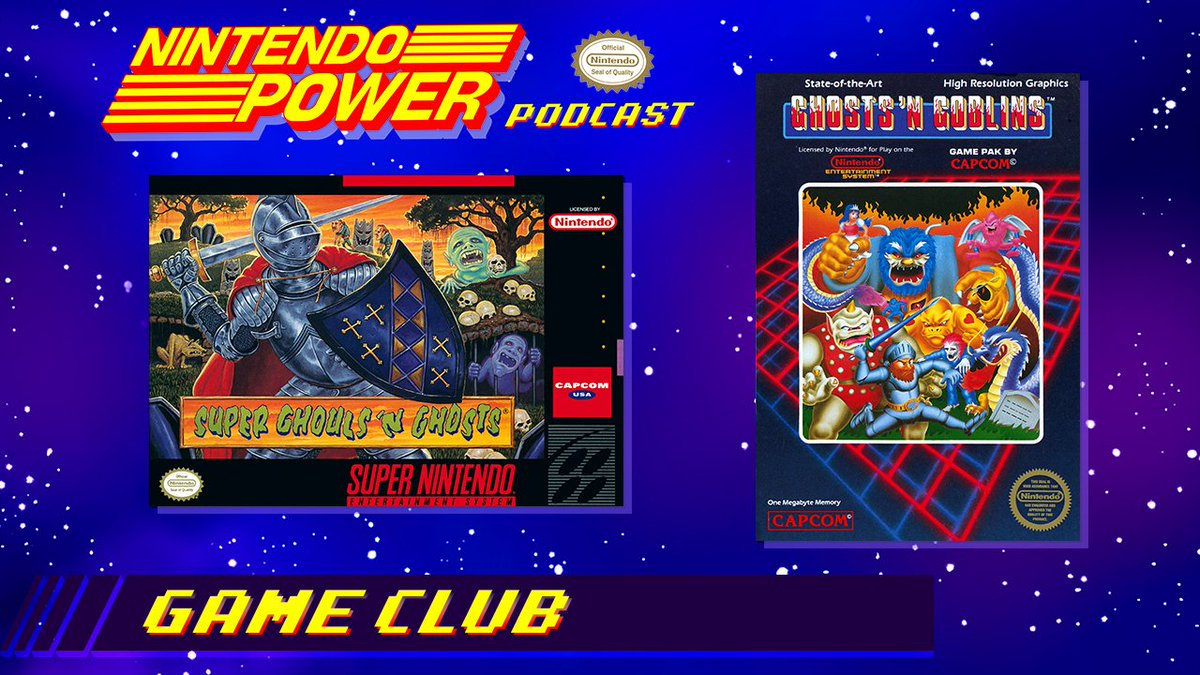 The next episode of #NintendoPower Podcast is on the way! For the Game Club segment we'll discuss the adventures of the only knight with polka dot boxer shorts, Arthur! Share your memories from the challenging classics Ghosts 'n Goblins & Super Ghouls 'n Ghosts below!👻