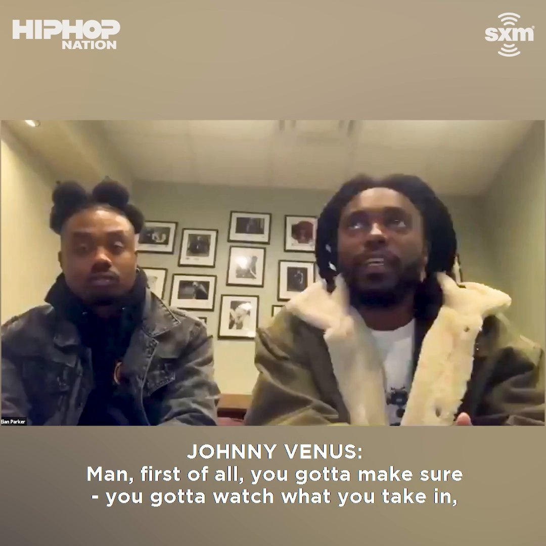 "Johnny Venus of @Earthgang spit some facts when @Torae asked the group how they stayed creative during this time: ""If you input trash you're only gonna output trash."" 💯   Listen to the full interview here:"