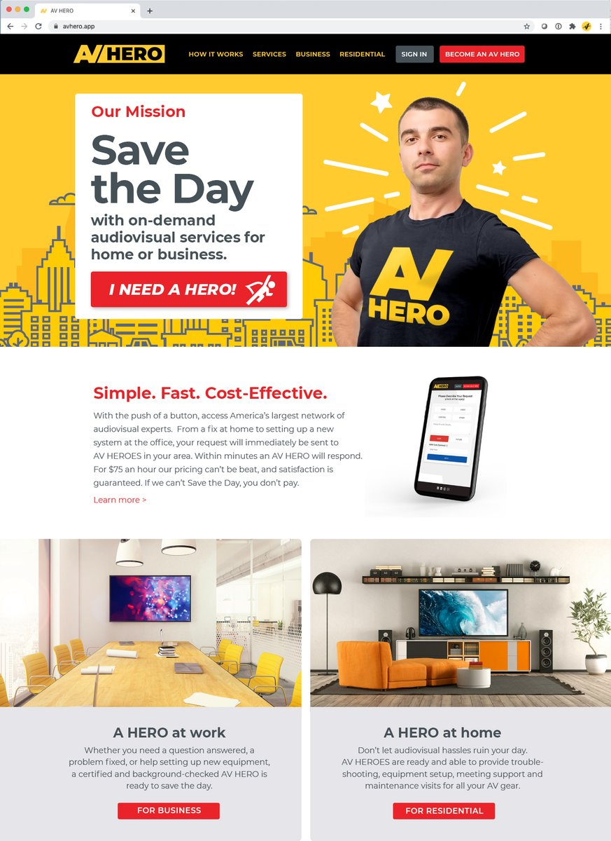 We've been busy behind the scenes creating an awesome new user experience for both customers and HEROES - coming next month! Stay tuned 🤘🤘  #AVHERO #sAVetheday #2021goals