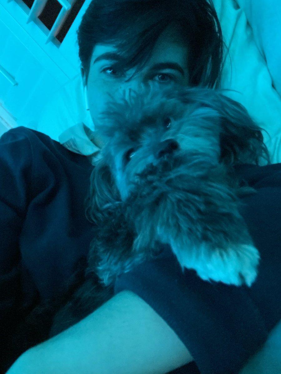 um i'm too lazy to take new pics so here's me and my dog   #lgbtqforcorpse