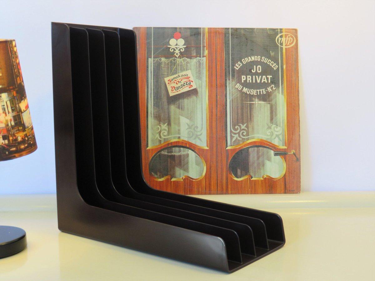 Vintage Record Player Holder Dark Brown Color ABS Plastic Rack Records Holder Stand Record Rack Storage 33 LP Vinyls PLASTON Swiss Made 70s  #covid-19 #Retro #Wedding #FREESHIPPING #Vintage #Christmas #CYBERSALE #RecordHolder