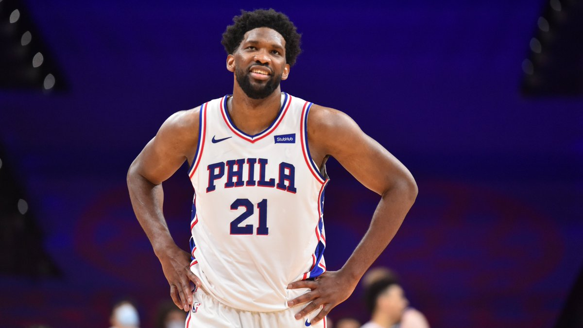 Joel Embiid is playing at an MVP level this season 💪  25 PPG 53.6 FG% (career-high) 39.4 3P% (career-high) 11.5 RPG 1.4 SPG (career-high) 1.5 BPG 48.4 FPPG  @sixers and @celtics meet tonight at 7pm/et for the first of two back-to-back ESPN matchups this week! https://t.co/W3udQ1DdcR