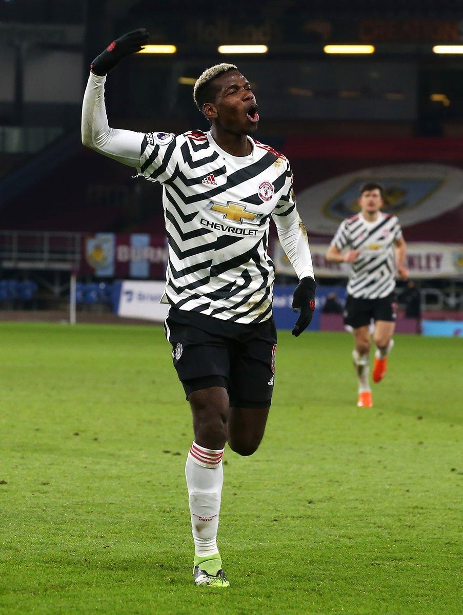 v Burnley: @paulpogba winner sends Man Utd 🔝  v Fulham: Pogba winner sends @ManUtd 🔝