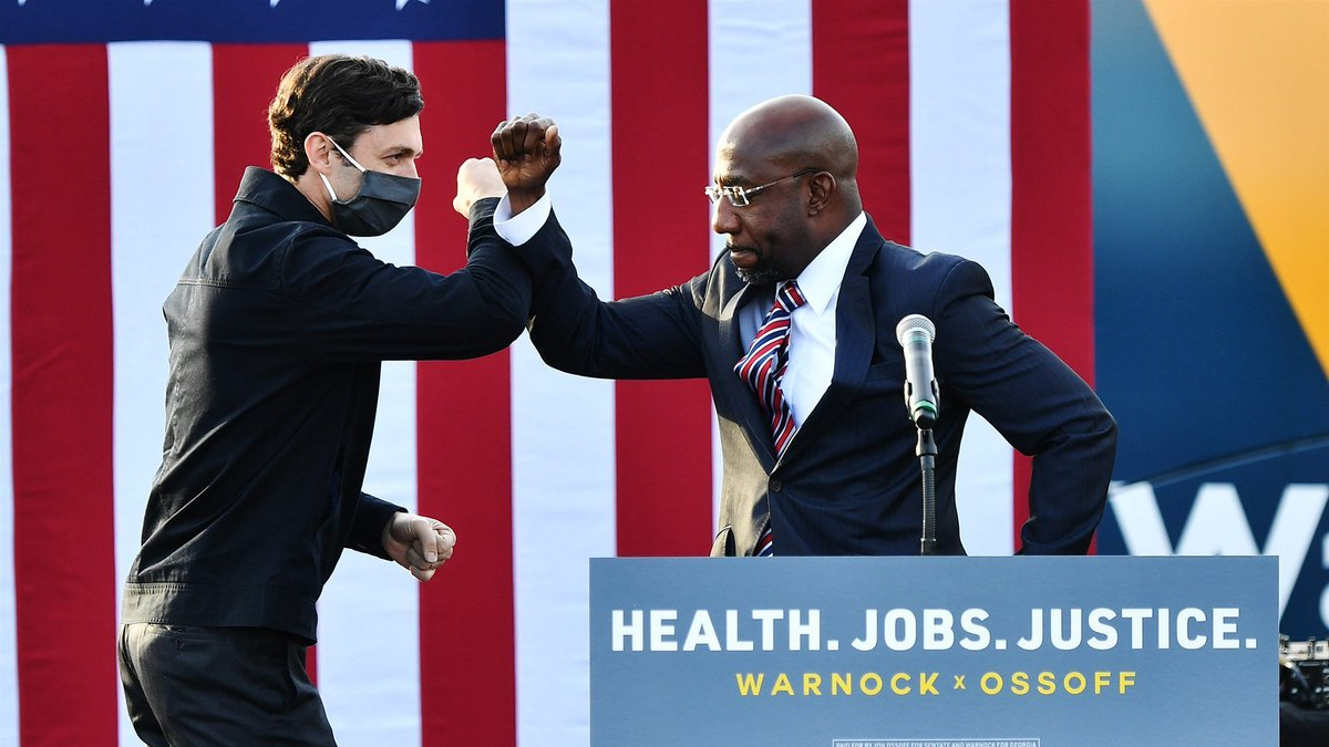 Congratulations to the now official Senators from Georgia, Jon Ossoff and Raphael Warnock! #gapol