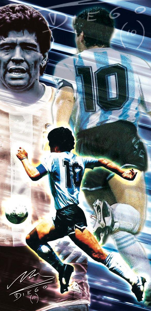 #WallpaperWednesday 🎨📲 Diego Maradona 🇦🇷⚽️ A footballing genius!  #DiegoMaradona #smsports #Diego10