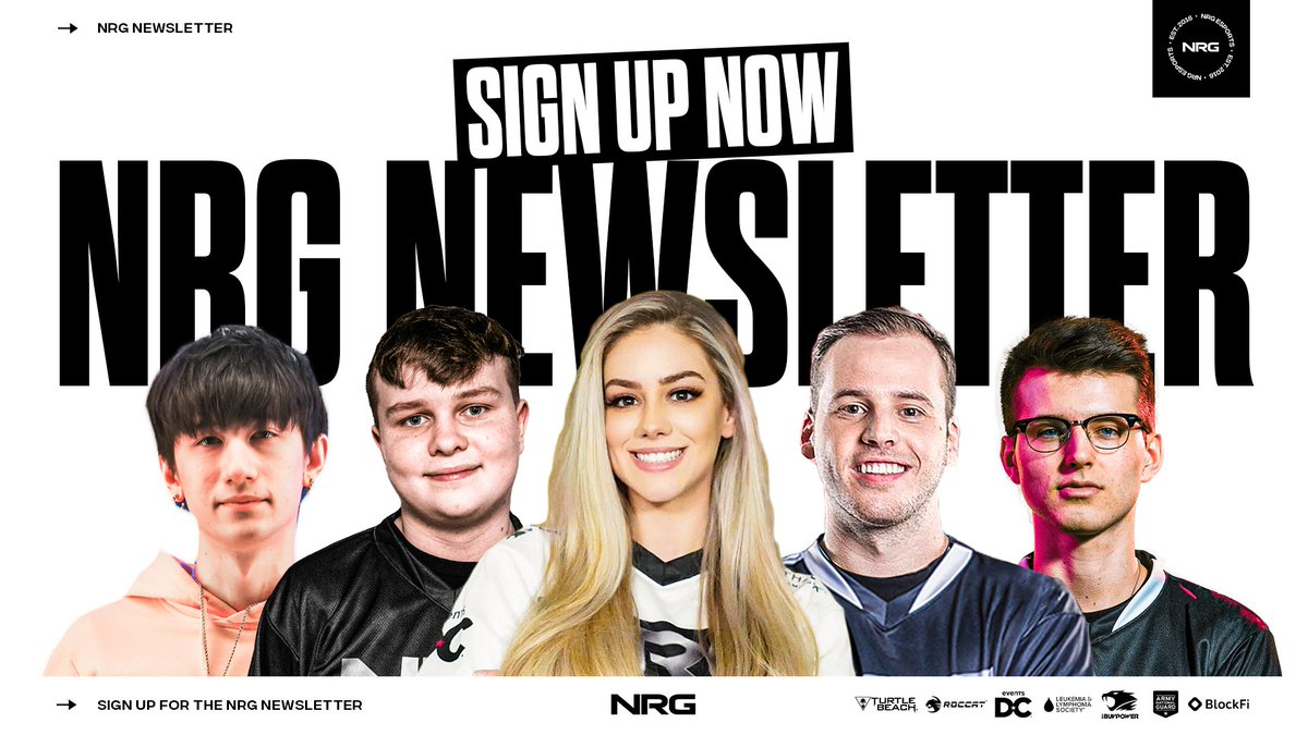 want to stay up to date with all things NRG? sign up for our weekly #NRGFam newsletter 🔥 📝: bit.ly/nrgnewsletter