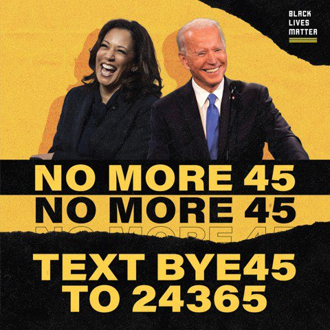 BOY BYEEE  While the fight to end white supremacy will continue, today, let's take a moment to breathe a sigh of relief. To spread Black joy. And if you want…. to dunk on this idiot.  Text BYE45 to 24365 or use the hashtag #BYE45 with your reflections on this day