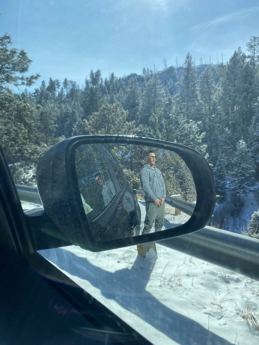 Objects in the rear view mirror may appear smaller than they are 🥶😂🤣😜 https://t.co/0M5kUaVrLg
