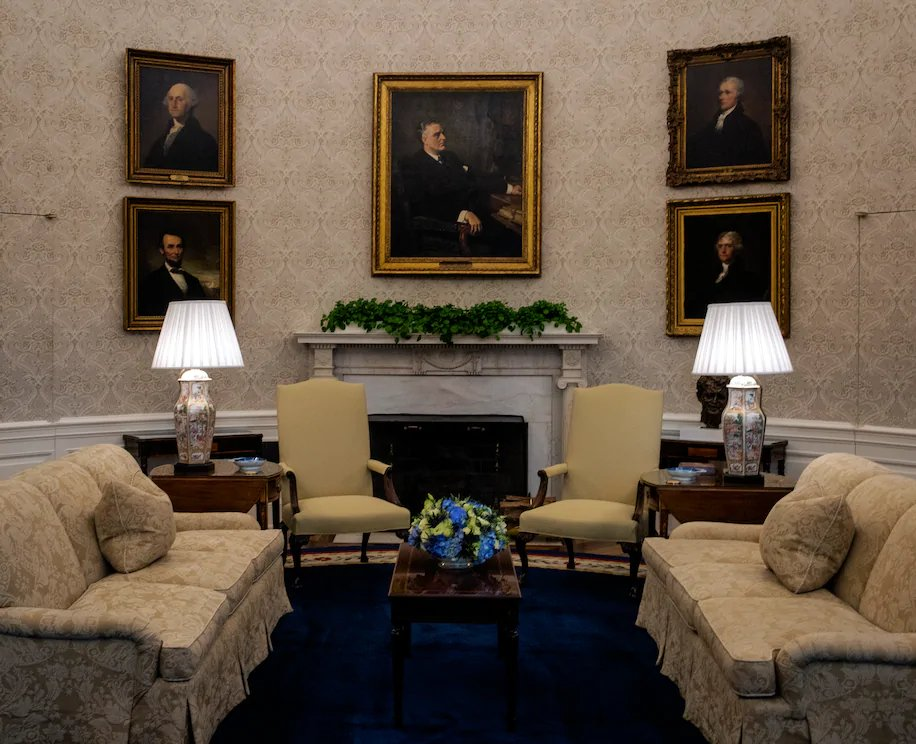 FDR gets pride of place in the Biden Oval Office. This is good.