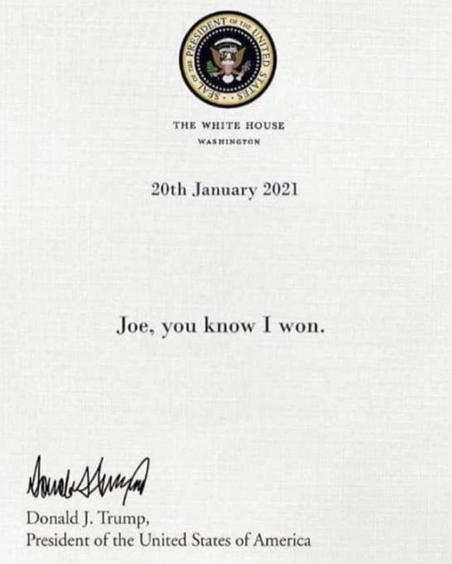 Turns out Trump did leave a note for Biden... https://t.co/OrrS1mzKQ4