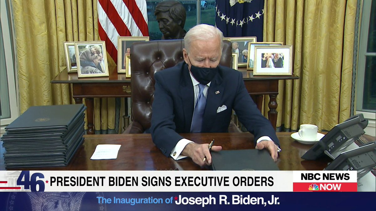 """In the Oval Office, President Biden describes the letter that former President Trump left him as """"very generous,"""" but said he didn't want to share more than that because it is """"private."""""""
