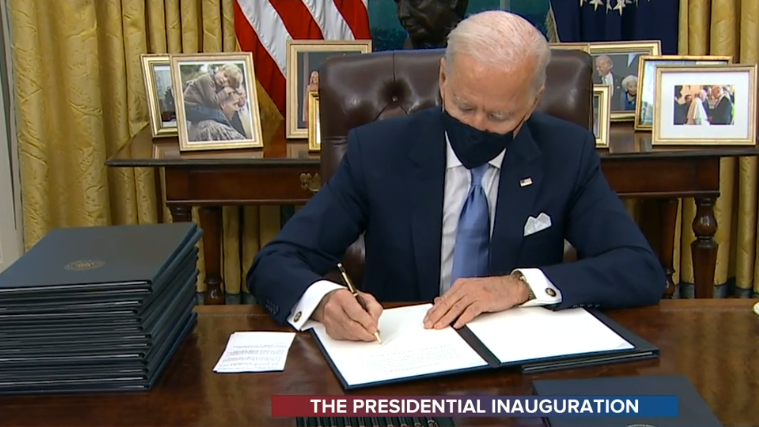 It's Official.   U.S. President Biden's 3rd executive order he just signed was to rejoin the Paris Agreement.