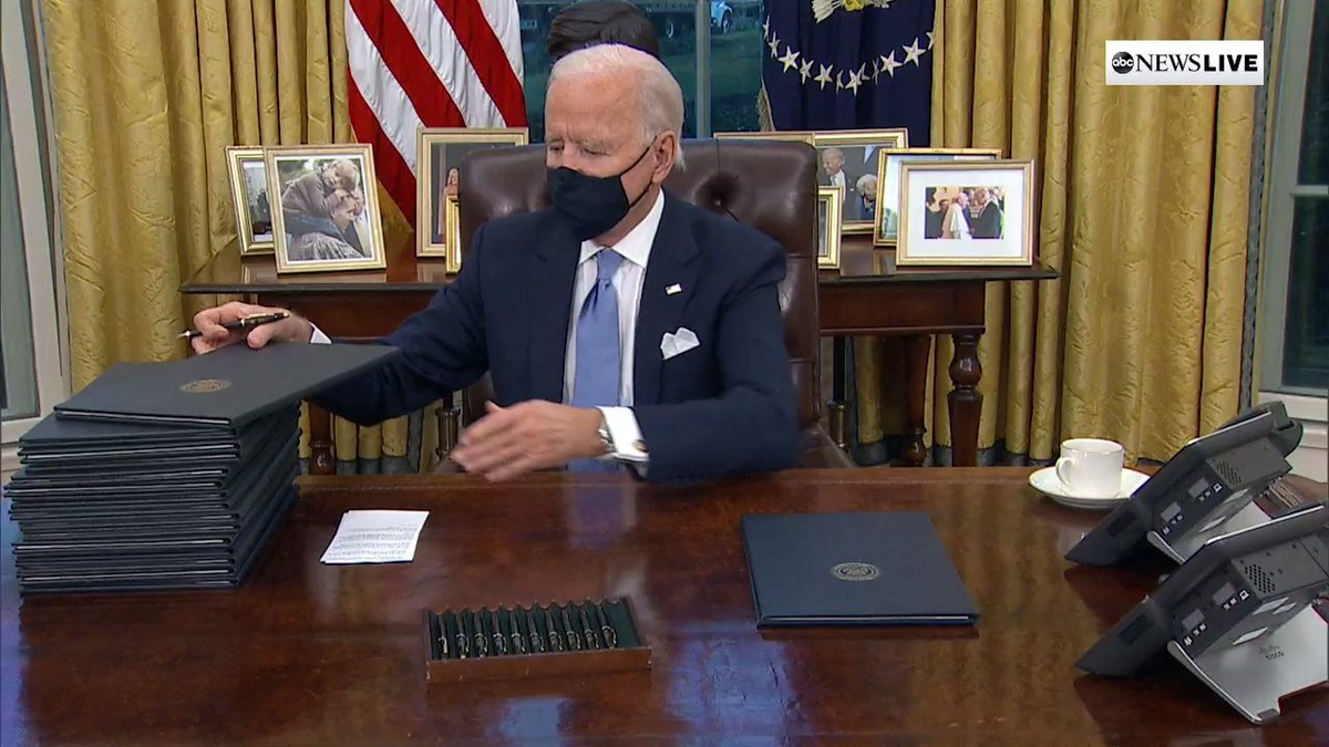 "BREAKING: Joe Biden signs executive action to rejoin Paris Climate Accord ""as of today.""  #InaugurationDay"