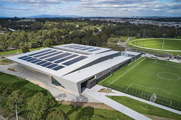 @latrobe's new Sports Stadium has been recognised for #sustainability, with the stadium being awarded Australia's first 6 Star Green Star Design and As Built v1.2 certified rating for a sports building by @gbcaus.   Read more via @AUSLEISURE: https://t.co/wY01cAhrPS https://t.co/WrXOIsCvZ3