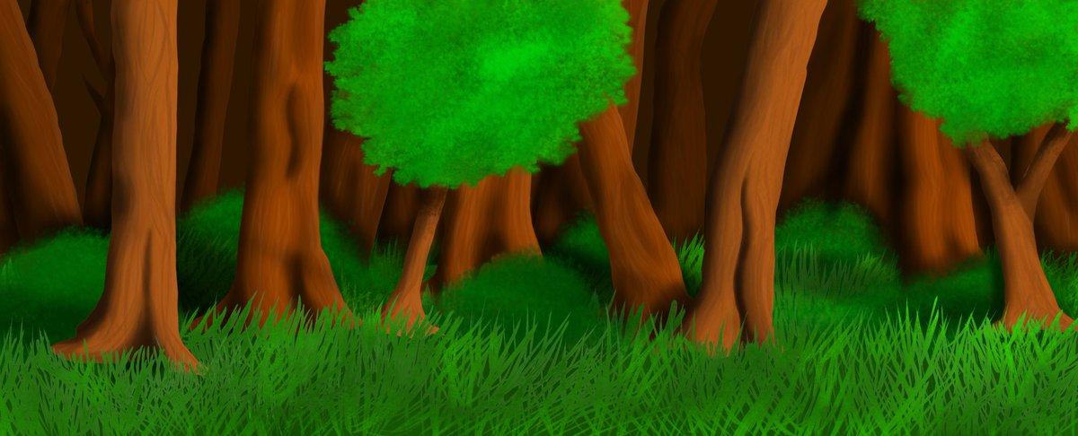 Wohoooooooo... A new animation is being prepared😜✌️✨❤️ #animation #drawing #nature #forest #digitalart https://t.co/v26PopJ4ym