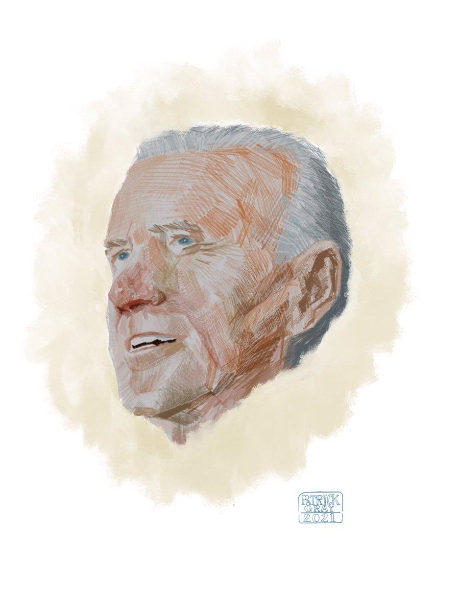 Excited to do up a proper PRESIDENT JOE BIDEN drawing this morning!  Conngratulations to @JoeBiden and @KamalaHarris!   #portrait #drawing #joebiden #kamalaharris #president #presidentbiden #inauguration #2021 #unitedstates #us #democracy #art #illustration #sketch #artwork https://t.co/OCPJuM8XcI