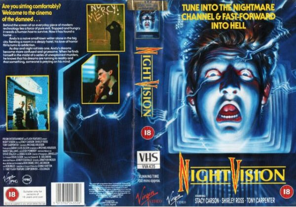 Original rental vhs artwork of the horror film #NightVision starring Stacy Carson and directed by Michael Krueger #tbt #artwork #HorrorMovies