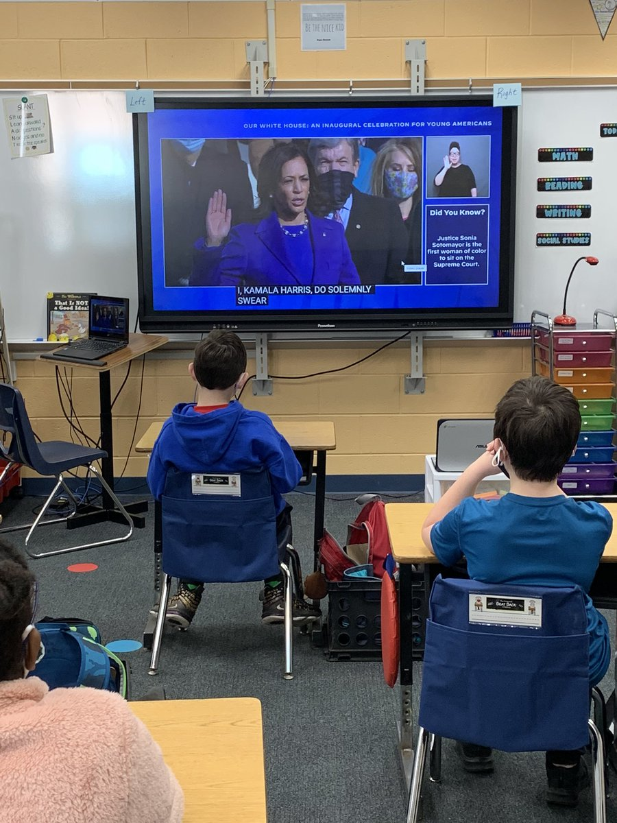 Witnessing history in 4th grade today! So proud! @VP @POTUS