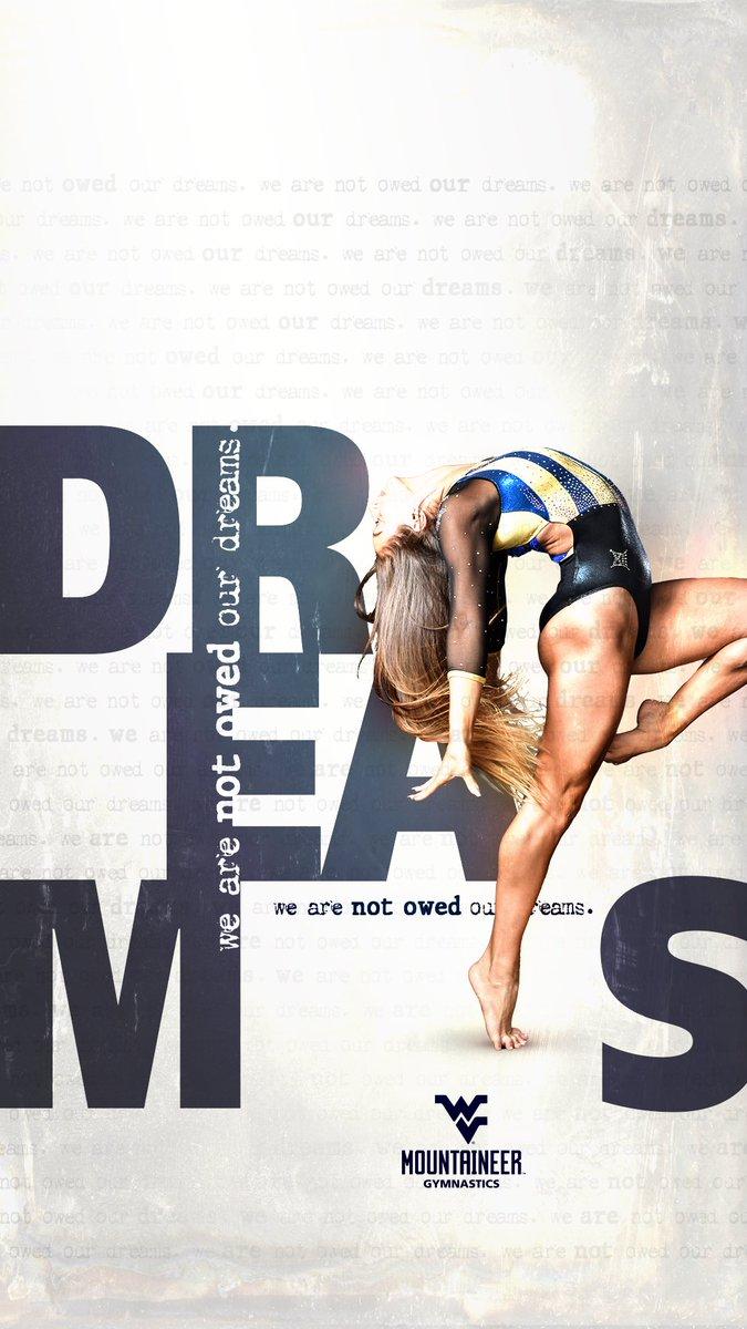 It's #WallpaperWednesday!   Keep that 📱 feelin' 🔥 this gymnastics season! #HailWV