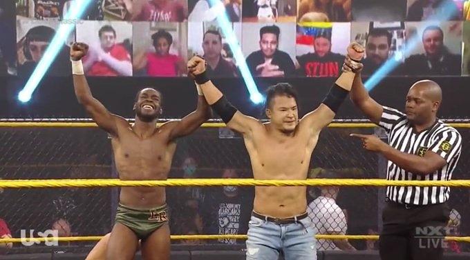 Kushida & Leon Ruff avanzan a la siguiente ronda del Torneo #DustyClassic derrotando a The Way!!  #Kushida #LeonRuff #TheWay #DustyCup #WWENXT #wwe #wrestling