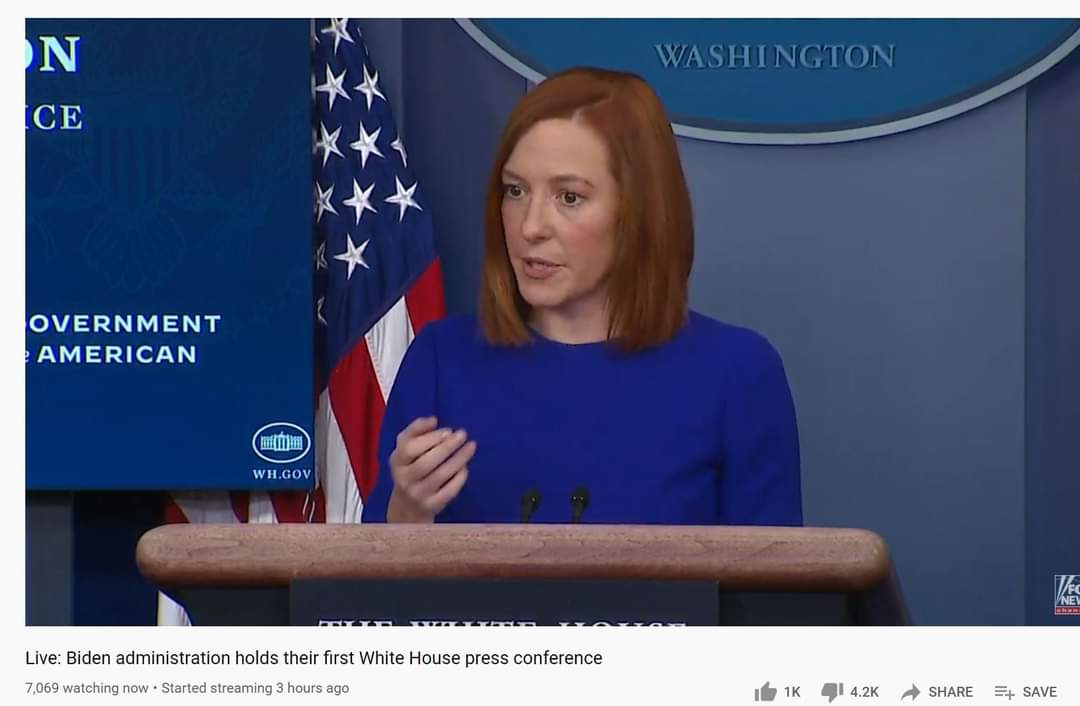 Wow, coherent answers to questions, no combativeness. The enemy of the people must have left town this morning 🌄. #PressConference  #presssecretary  #ThankGod
