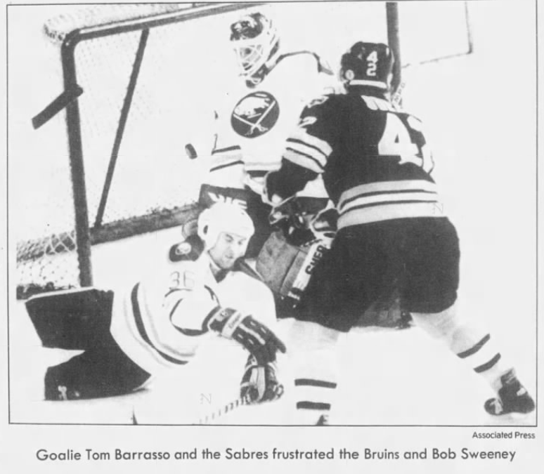 #OTD in 1988 Buffalo Sabres 5 Big Bad Bruins 3. 228 total penalty minutes. Fighting majors to Kevin Maguire (2), Ruff (2), Foligno (2), Arniel, Jan Ludvig, and Uwe Krupp. Game Misconducts to Maguire and Foligno.  Christian Ruuttu with 4 assists. https://t.co/ORWE9mLcme