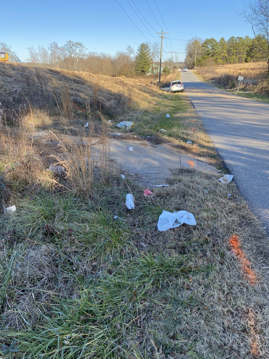 Four bags of trash picked up on Valentine Lane today near the Spartanburg/Greenville County line. Still lots more work to do. ♻️ 🗑 💚 #littertrasheseveryone #litterbuster #grababagsc #LoveWhereYouLive