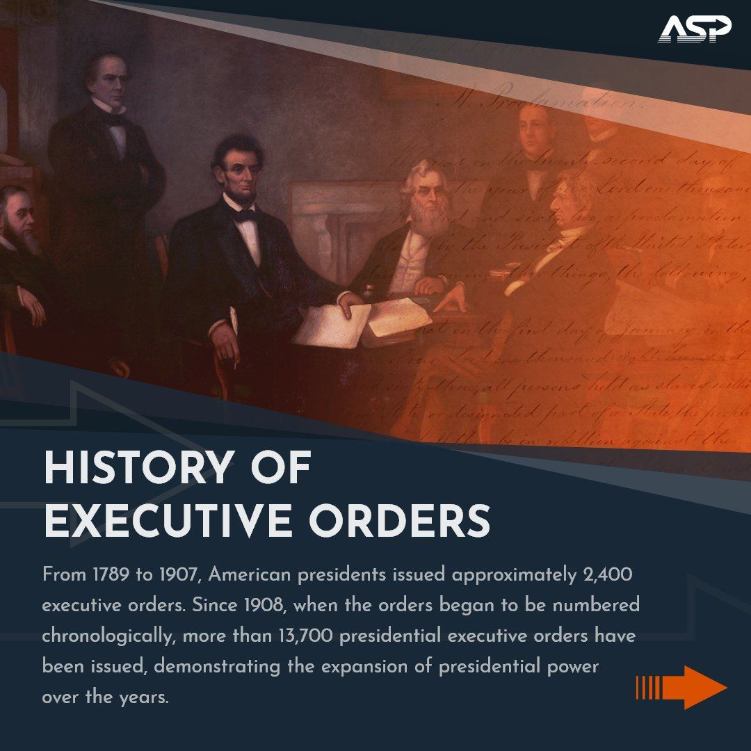 Learn more about the history of executive orders and how Presidents have used them over time in the gallery below 👇