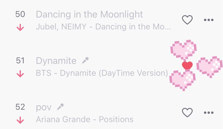 Dynamite is at number 51. Don't forget to stream and check out Dynamite on Deezer. #BTS #DYNAMITE #BTSARMY https://t.co/LNChQ63UtZ