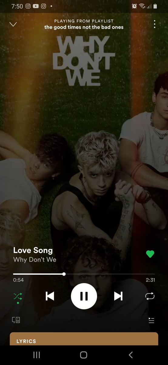 love song is a legend actually the whole album is #WDWListeningParty @whydontwemusic