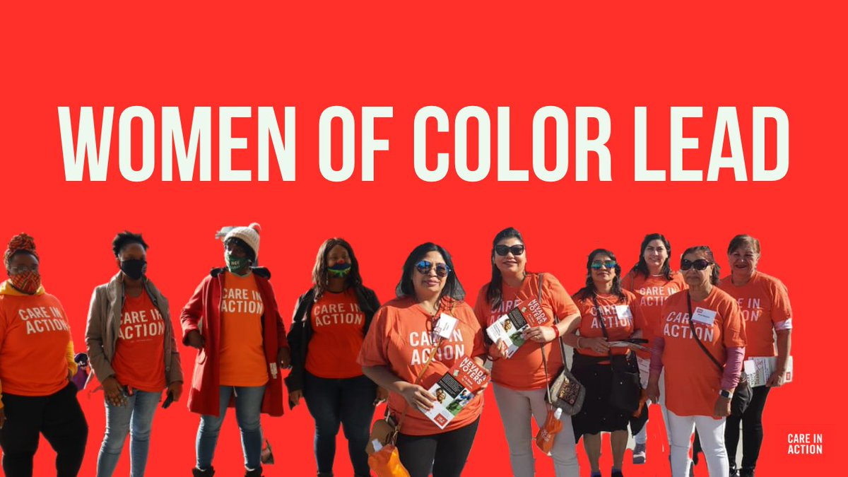 Women of color braved a pandemic, cared for our loved ones, voted and encouraged others to vote for our collective future where everyone's work is treated with dignity and respect.   Thank an organizer for making today possible.