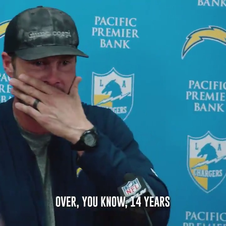 Philip Rivers always gave it all he had 🙏  (via @Chargers)