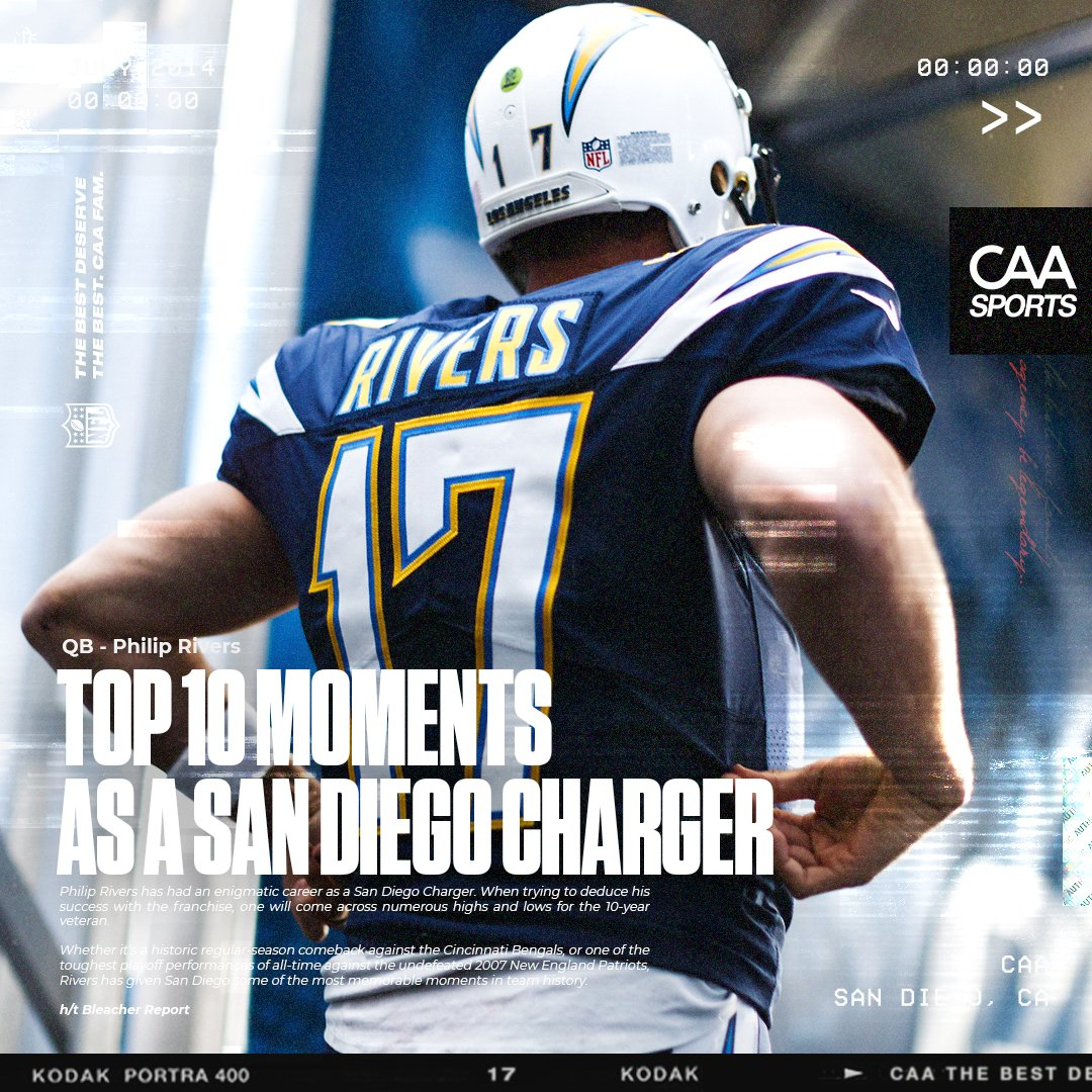 #PhilipRivers 10 Most Memorable Moments as a San Diego Charger #BoltUp ⚡️  📰  h/t @BleacherReport   #CAA x #NFL x #TBDTB