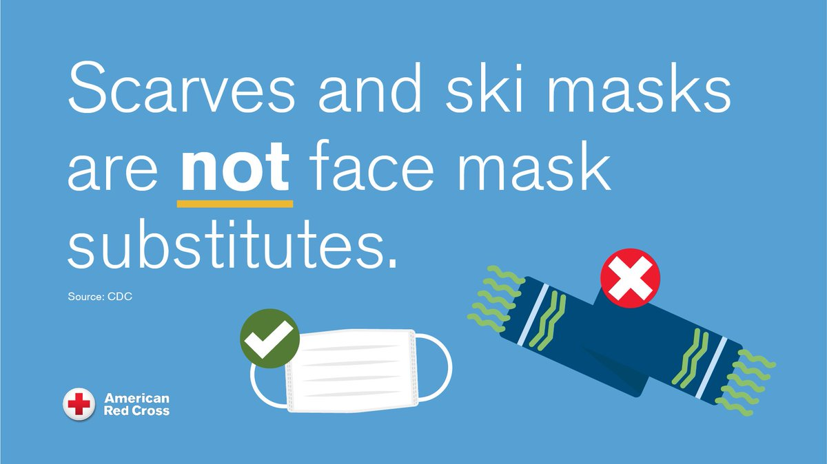 🤔 Can you wear a scarf or ski mask to protect against #COVID19?