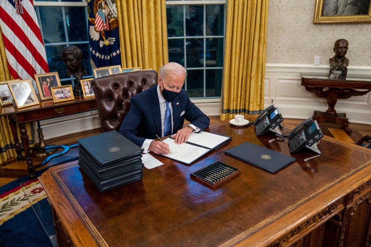 #PresidentBiden recommitted the US to the #ParisClimateAgreement, the international accord designed to avert catastrophic global warming, and ordered federal agencies to start reviewing/reinstating more than 100 environmental regulations weakened or rolled back by #Trump @nytimes