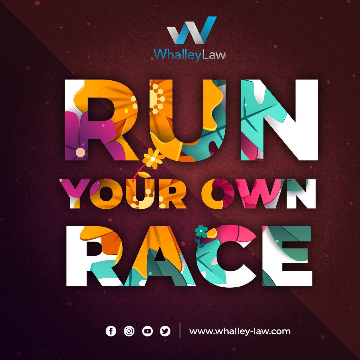 """""""When you run your own race do not worry about the next person's pace, mind yours, after all this is your own race, not theirs.""""😊 . . . . . #WhalleyLaw #motivation #dailymotivation #motivation101 #attorneyinusa #attorneyatlaw #attorneylife #aceattorney https://t.co/kxasp5blRQ"""