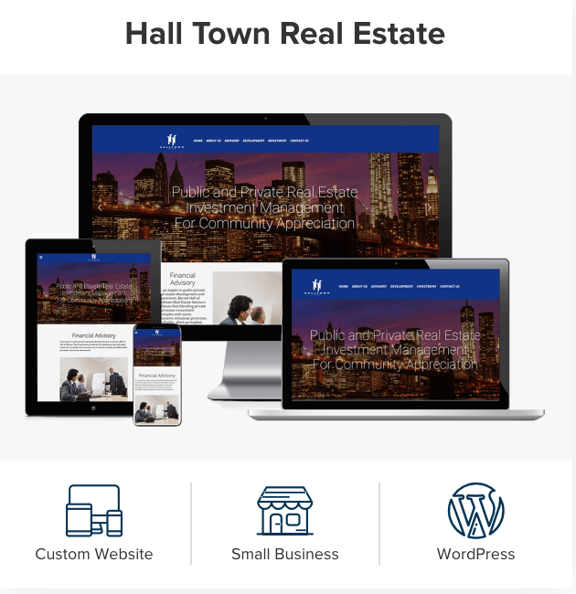 Hall Town Real Estate's #customwebsite allowed them to increase site traffic and engage with a bigger audience. Are you looking for a unique design and fluid navigation? We got you covered!   #realestatewebsite #customdesigns #realestate