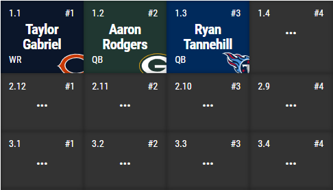 Hey now... that's a spiffy looking draft board... #sneakpeek under the hood as we're building a sweet new snake draft format ahead of #nfl #nfldraft and #mlb #openingday #fantasyfootball #fantasybaseball