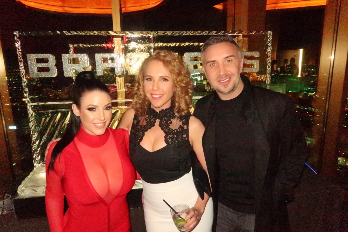 Last year at the @AEexpo with @angelawhite & @KeiranLee at the @brazzers party
