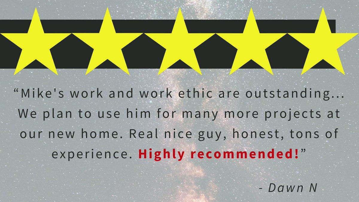 We always love hearing from our wonderful customers! Thanks for the fantastic review Dawn!  #GreaterEastsideWashington #FiveStarService #Handyman #testimonials #EveryoneNeedsaHandyman #HandymanServices #HomeRepairs #Remodeling