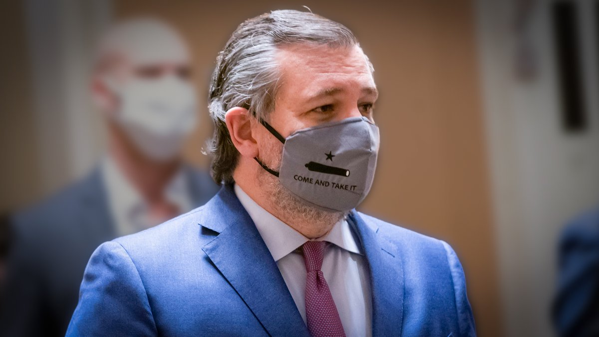 Sen. @TedCruz Sends Strong Message With Mask at Biden's Inauguration 🇺🇸
