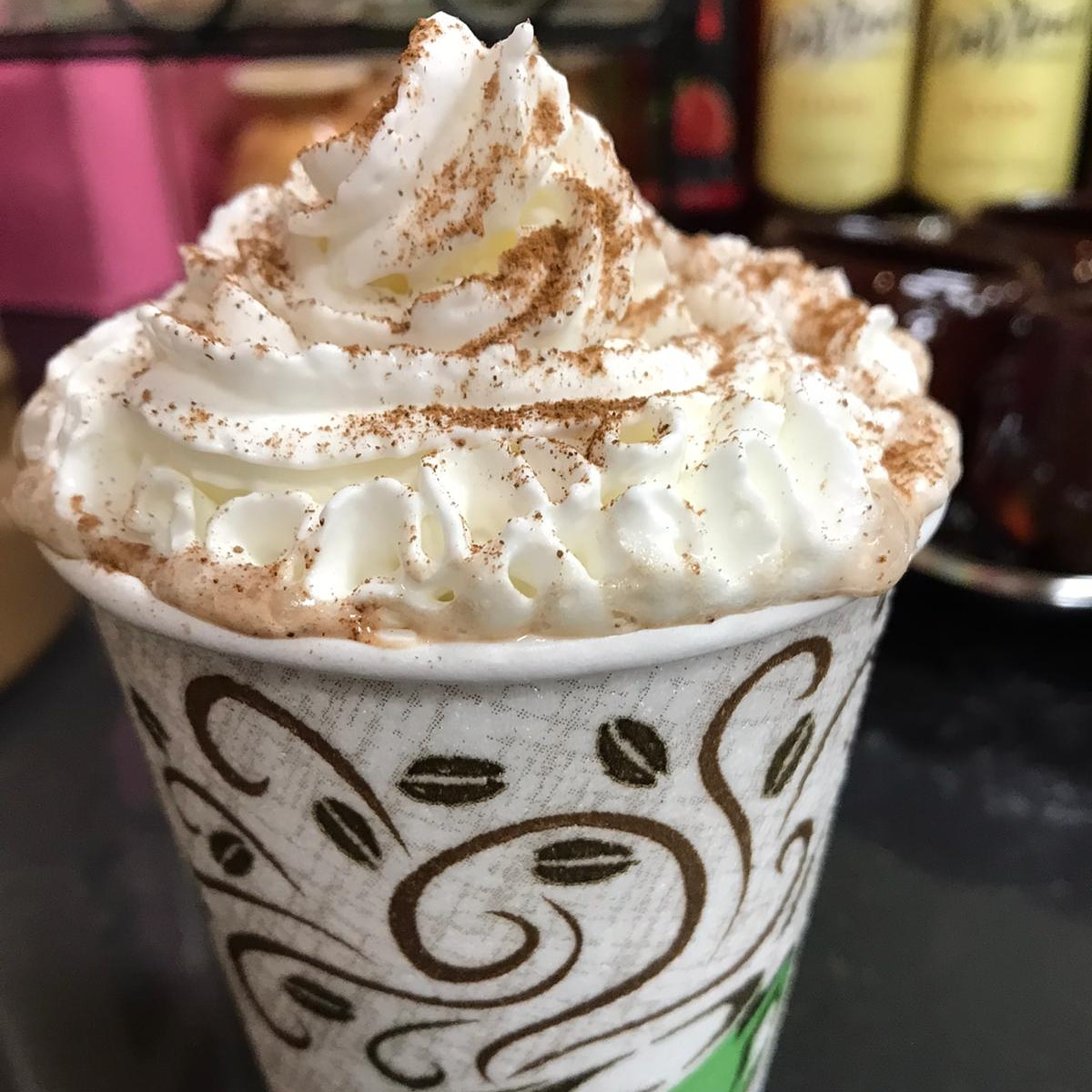 Rainy days are more enjoyable when sipping on a delicious latte topped with yummy whipped cream🥰! Open late everyday for carry-out!  #latte #lavazza #espresso #coffeelover #coffeebar #whippedcream #rainyday #wednesdayvibes #newyear #visithotsprings #hotspringsarkansas #pickmeup